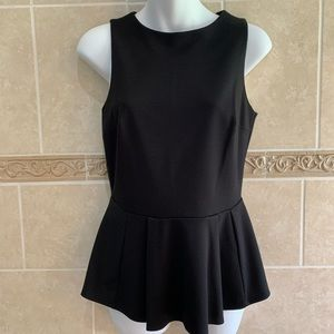 Casual Couture by Green Envelope black peplum top